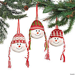 Snowmen Head Ornaments