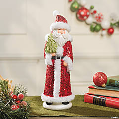 Sequined Santa Decoration