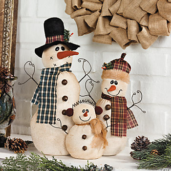 Soft Snow Family Décor