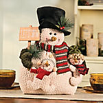 "Plush ""Let It Snow"" Snow Family"