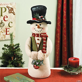 Standing Snowman with Ornament