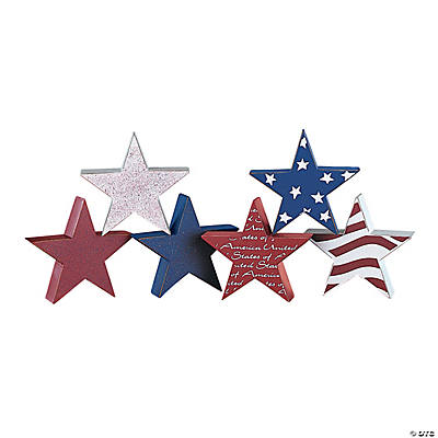 Patriotic Stacking Stars