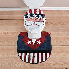 Uncle Sam Toilet Lid Cover & Rug