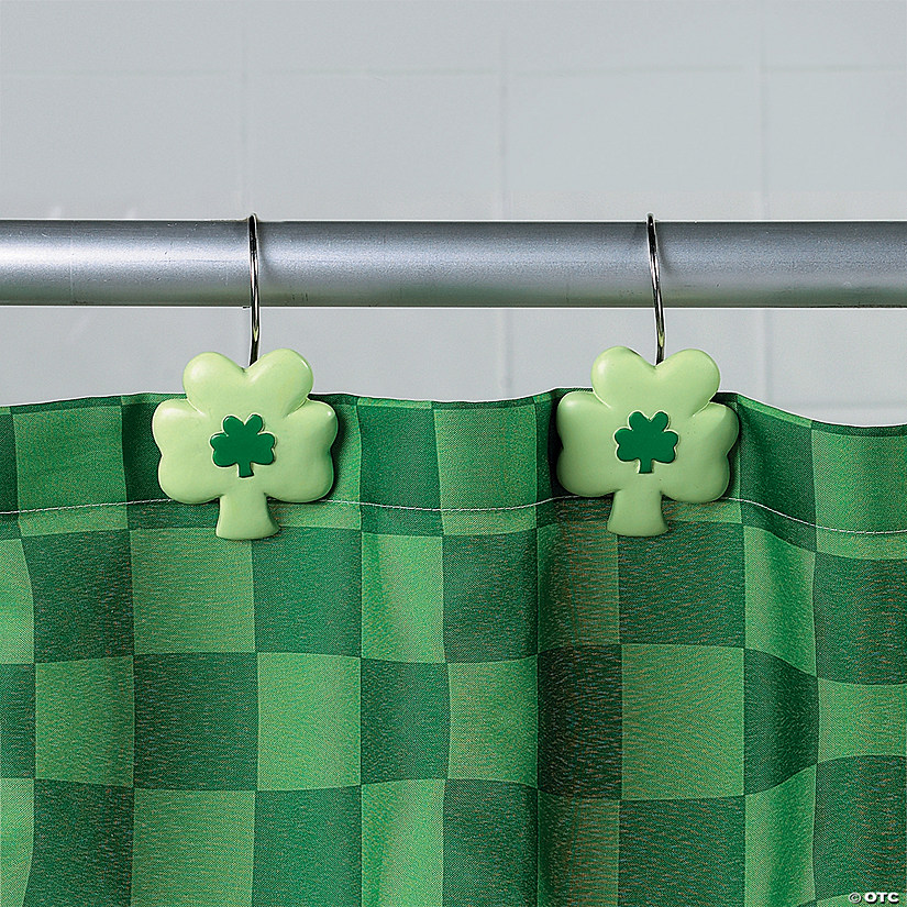 Shamrock Shower Curtain Hooks - Discontinued