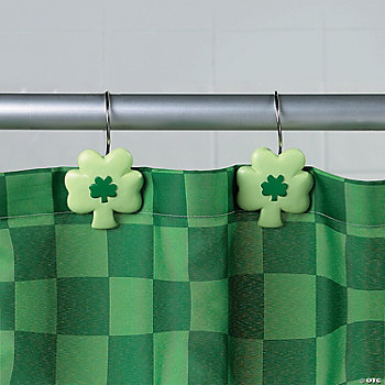 Shamrock Shower Curtain Hooks