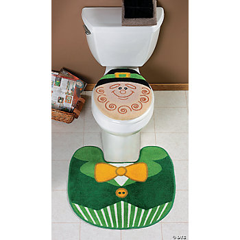Leprechaun Toilet Lid Cover & Rug