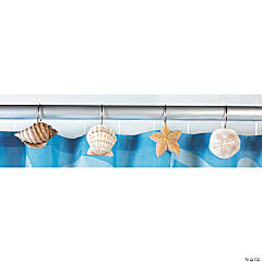 Seashell Shower Curtain Hooks