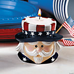 Uncle Sam Candleholders