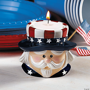 Uncle Sam Candleholder