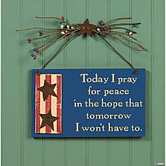 Prayer for Peace Sign