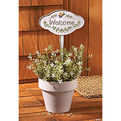 """Welcome"" Butterfly Yard Stake"