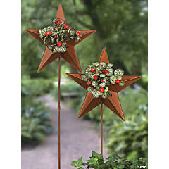 Star Planter Yard Stakes