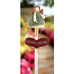 """Welcome Friends"" Angel Yard Stake"