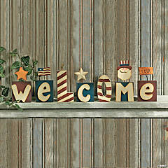 "Patriotic ""Welcome"" Blocks"