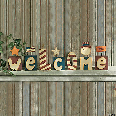 Patriotic Welcome Blocks