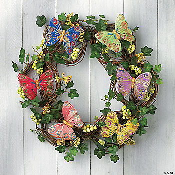 Novelty Gift Catalogs >> Butterfly Wreath