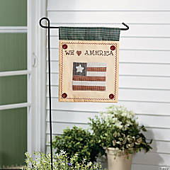 Americana Mini Yard Flag and Flagpole