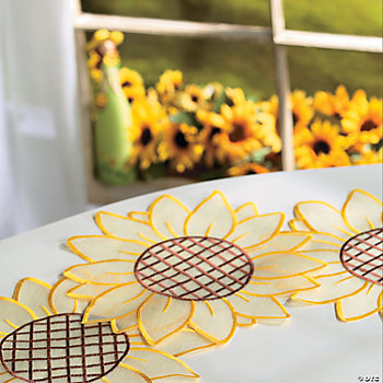 Sunflower Doilies, Home Textiles, Home Decor - Terry's Village ...