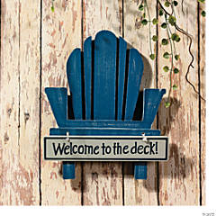 """Welcome to the Deck"" Sign"