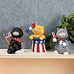 Patriotic Cat Figurines