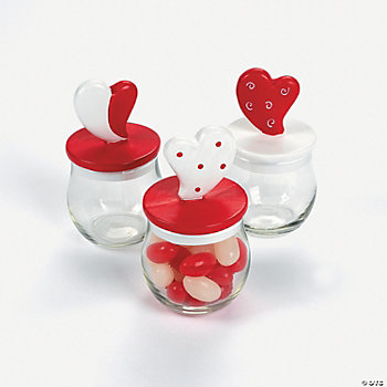Valentine Jars With Heart Lids