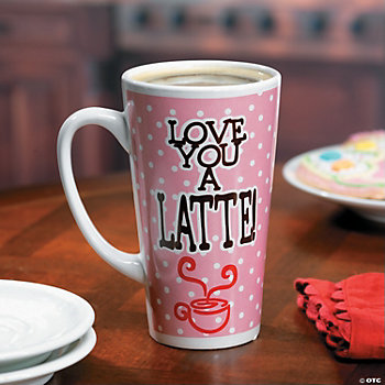 """Love You A Latte!"" Java Mug"