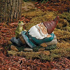 Sleeping Gnome with Frog