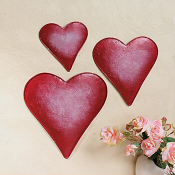 Embossed Wall Hearts