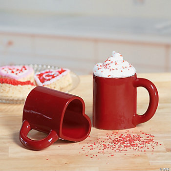 Red Heart Mugs