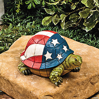 Turtle With Flag Shell Oriental Trading