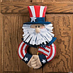Plush Uncle Sam Wreath