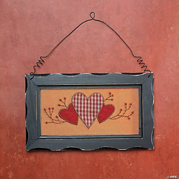 Fabric Hearts Wall Décor