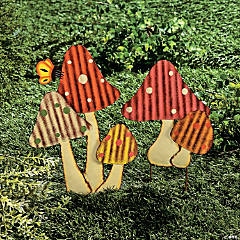 Mushroom Yard Stakes