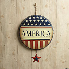 """America"" Bottle Cap Wall Hanging"