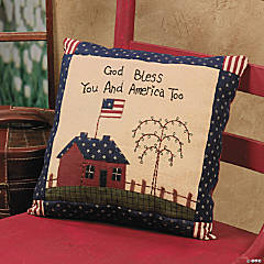 """God Bless"" Americana Pillow"