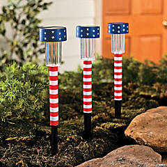 Patriotic Solar Light Yard Stakes