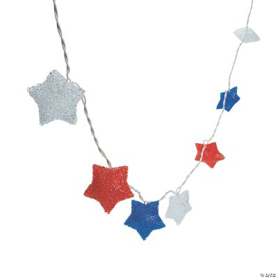 Red, White & Blue Star Light String - Oriental Trading