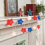 Red, White & Blue Star Light String