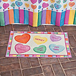 Conversation Hearts Bath Mat