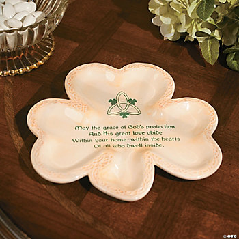 Irish Blessing Shamrock Plate