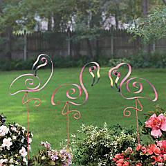 Flamingo Swirl Yard Stakes