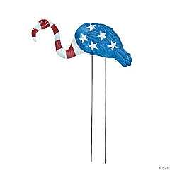 Patriotic Flamingo Yard Stake