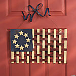 Woven Flag Door Decoration
