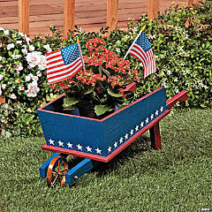 Red, White & Blue Wheelbarrow