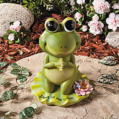 """Don't Let Me Croak"" Praying Frog"
