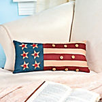 Americana Pillow with Buttons