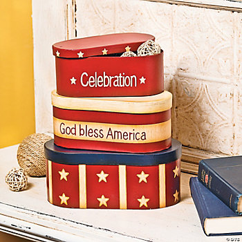 Stars & Stripes Stacking Boxes