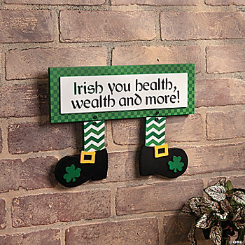 Leprechaun Feet Sign