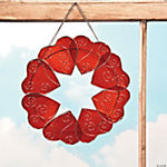 Stained Glass Heart Wreath