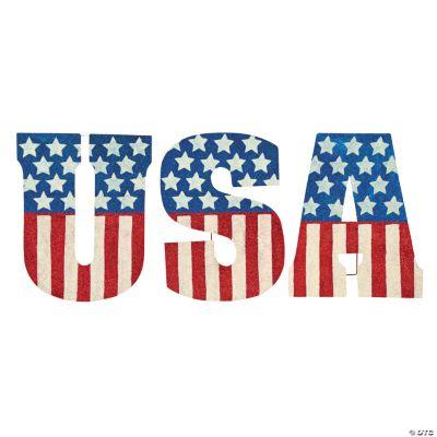 """USA"" Glitter Yard Signs"